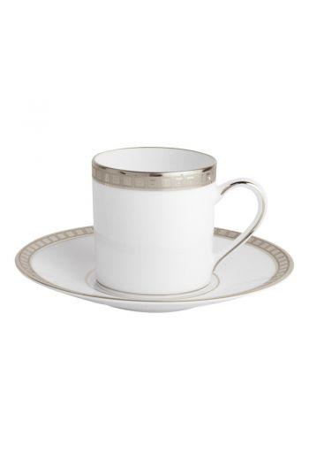 ATHENA PLATINE Tea cup and saucer 5 oz
