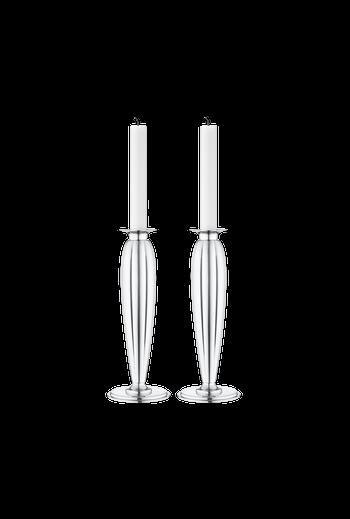 Georg Jensen Bernadotte Candleholder, 2 Pcs. - H: 9.29 inches. Ø: 3.54 inches.
