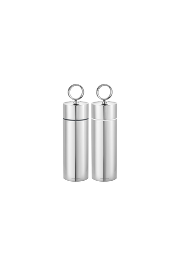 Georg Jensen Bernadotte Salt & Pepper Grinder Set - H: 7.4 inches. Ø: 1.97 inches.