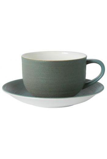 Royal Crown Derby Studio Glaze - Ocean Whisper Tea Saucer