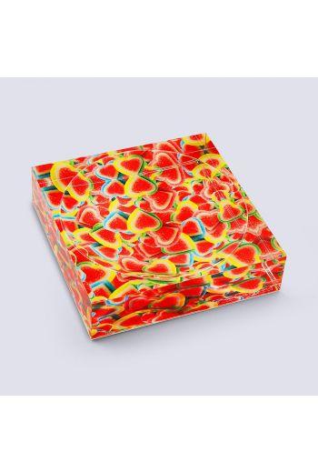 "by robynblair Rainbow Love Candy Dish  - 6""x 6""x 1.5"""