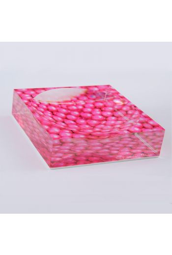 "by robynblair Poppin Pink Candy Dish  - 6""x 6""x 1.5"""