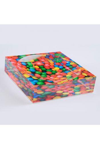 "by robynblair Rainbow Pop Candy Dish  - 6""x 6""x 1.5"""