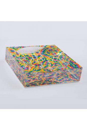 """by robynblair Twisty Pops Candy Dish  - 6""""x 6""""x 1.5"""""""