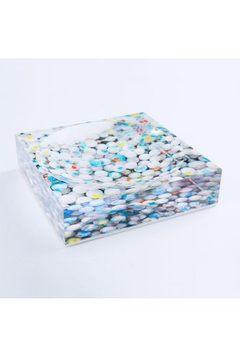 """by robynblair White Firework Candy Dish  - 6""""x 6""""x 1.5"""""""