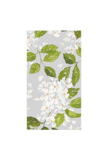 Caspari Blanc De Blancs Grey Paper Guest Towels - 15 per pack