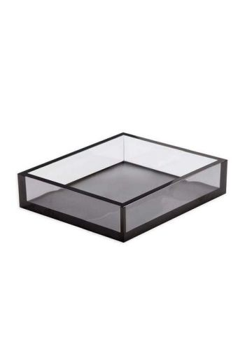 "Caspari Acrylic Luncheon Napkin Holder in Smoke - 7.5"" Sq. x 2.5"" H"