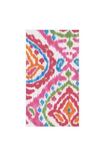 Caspari Java Ikat Paper Guest Towels - 15 per pack