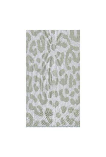 Caspari Zanzibar Silver Paper Guest Towels - 15 per pack