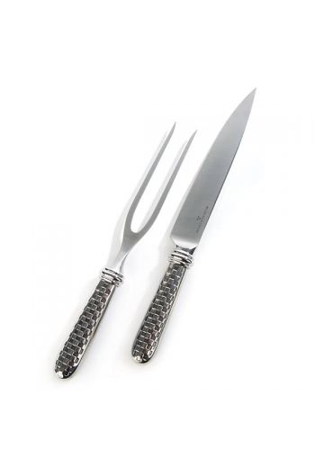"""MacKenzie-Childs Check Carving Set - Set includes 1 carving knife (13.25"""" long) and 1 carving fork (12.25"""" long)"""