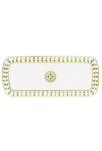 "Bernardaud Constance Rouge Cake Platter Rectangular - 16"""