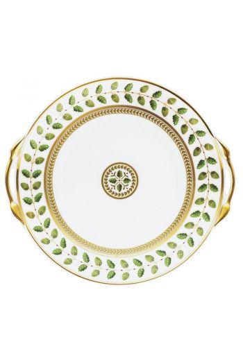 "Bernardaud Constance 11"" Cake Plate with Handles"
