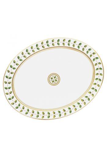"""Bernardaud Constance Rouge Oval Platter - 13"""""""