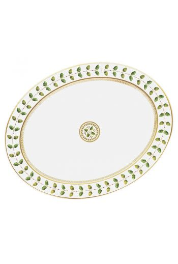 "Bernardaud Constance Rouge Oval Platter, Large - 15"""