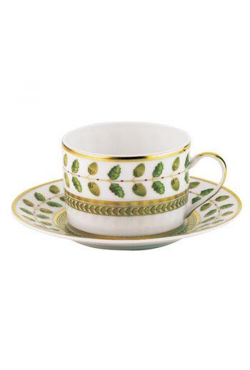 Bernardaud Constance Rouge Tea Cup & Sauce - Holds 5 oz