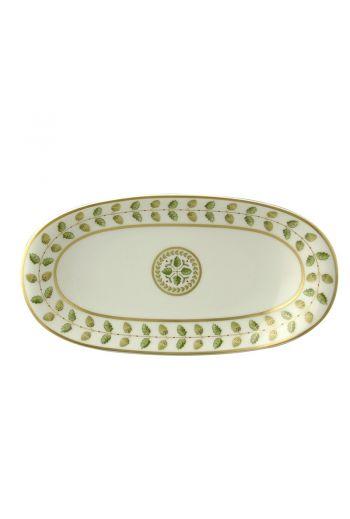 """Bernardaud Constance Rouge Relish Dish -  9"""" w x 5"""" d"""