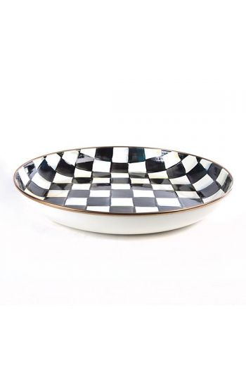 "MacKenzie-Childs Courtly Check Enamel Abundant Bowl - 13.75"" dia., 13 cup capacity"