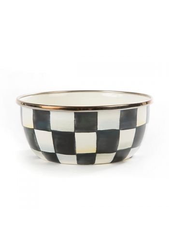 "MacKenzie-Childs Courtly Check Enamel Pinch Bowl - 4.5 dia., 2"" tall, 1.5 cup capacity"