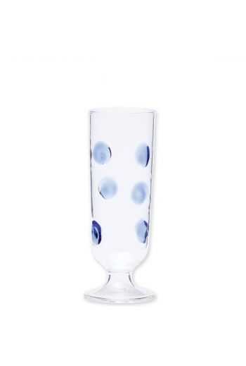 Vietri Drop Blue Champagne Glass