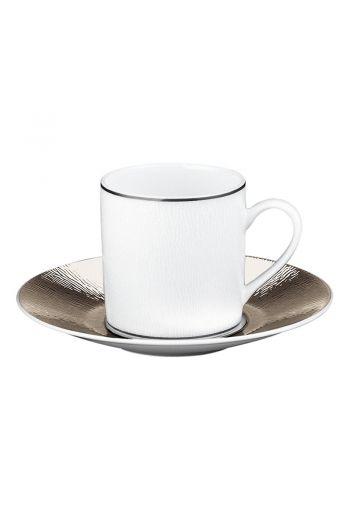 Bernardaud Dune Espresso Cup and Saucer - 2.7 oz