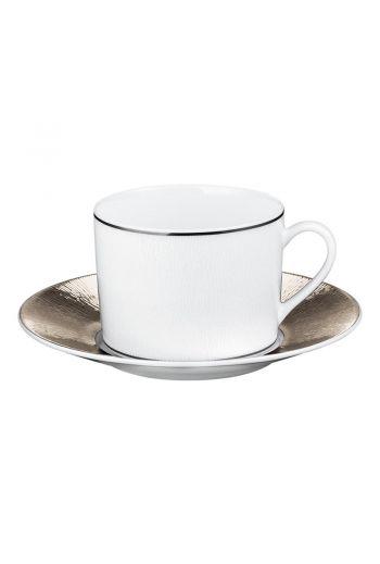 Bernardaud Dune Tea Cup and Saucer - 5 oz
