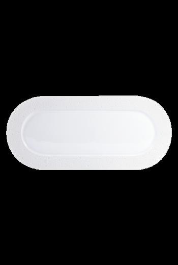 "Bernardaud Ecume White Rectangular Cake Platter 16"""