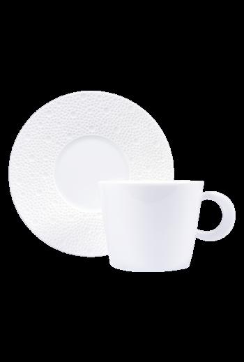 Bernardaud Ecume White Cream Cup & Saucer