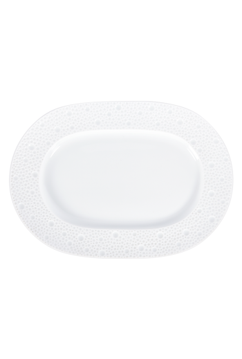 "Bernardaud Ecume White Relish Dish - 9"" x 5"""