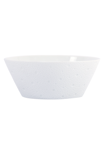 "Bernardaud Ecume White Salad Bowl 8"" D"