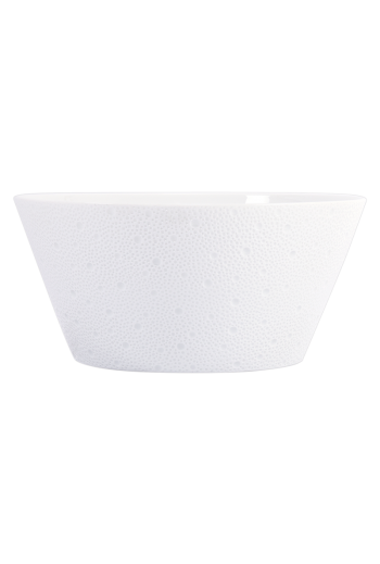 "Bernardaud Ecume White Salad Bowl, 2 Quart - 11"" D"