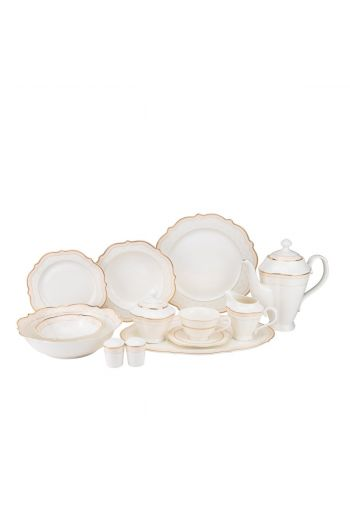 Joseph Sedgh First Blush 57 Piece Bone China Dinnerware Set - Service for 8