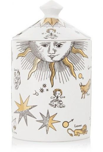Fornasetti Astronomici Bianco Gold Scented Candle, 10.6 ounces/ 300 g
