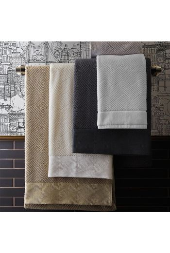 FRETTE Diamond Jacquard Wash Cloth 12x12 - Available in 4 Colors