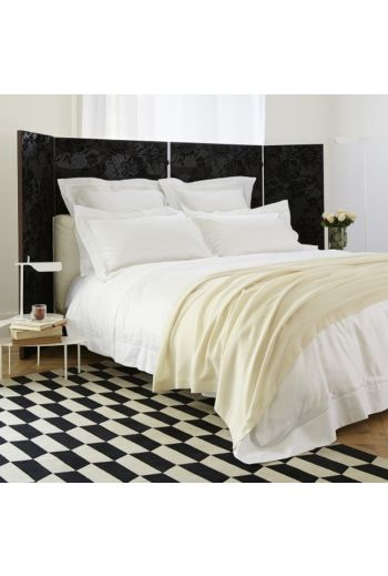 """FRETTE Doppio Ajour Queen Sheet Set(1 Queen Fitted 15 """"Pocket,1 Queen Flat 95x120, 2 Pillowcases) - Available in White"""