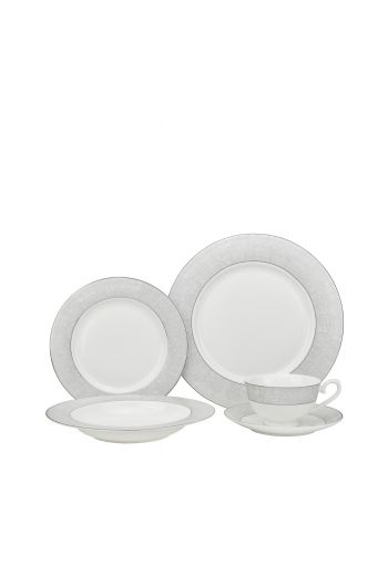 Joseph Sedgh Galaxy Platinum 20 Piece Bone China Dinnerware Set - Service for 4