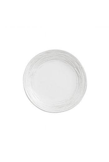 Arte Italica Merletto Graffiata White Salad/Dessert Plate