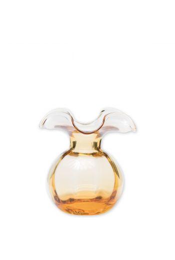 Vietri Hibiscus Glass Amber Bud Vase