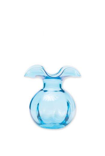 Vietri Hibiscus Glass Aqua Bud Vase