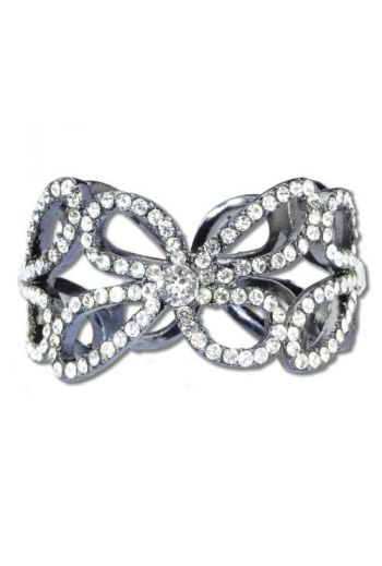 Hematite Flower Chain Napkin Ring