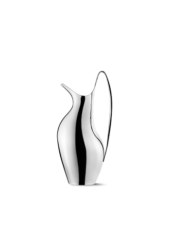 Georg Jensen HK Pitcher 1.2 L Mirror Polished Stainless Steel - H: 11.42 inches. W: 4.21 inches. V: 1.2 L.