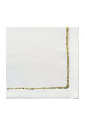 Gold Braided White Napkin