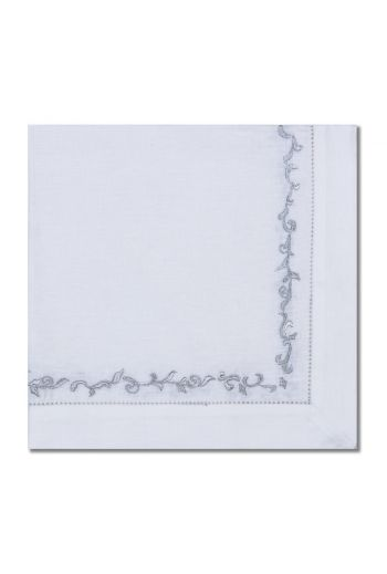 Silver Wave Embroidered Napkin