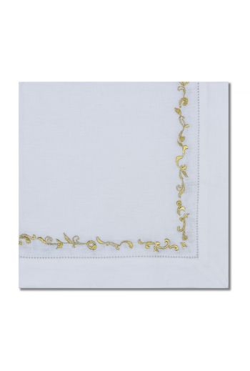 Gold Wave Embroidered Napkin