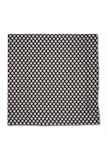 Black and Silver Dot Textured Napkin