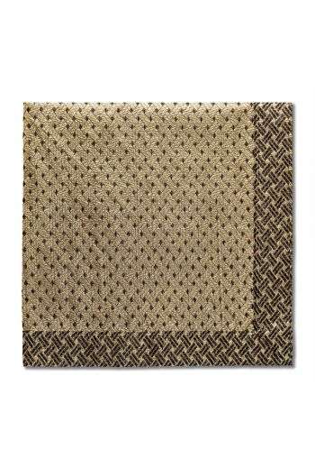 Nomi K Gold Fences Napkin, Set of 4