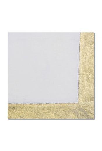 Gold Shimmer Border Napkin