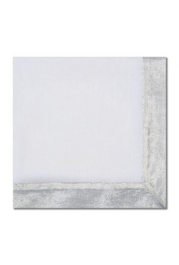 Silver Shimmer Border Napkin