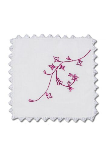 Nomi K Rose Flower Napkin, Set of 4