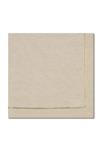 Textured Gold Line Napkin