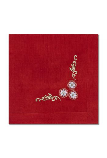 3 Flower Orange Napkin